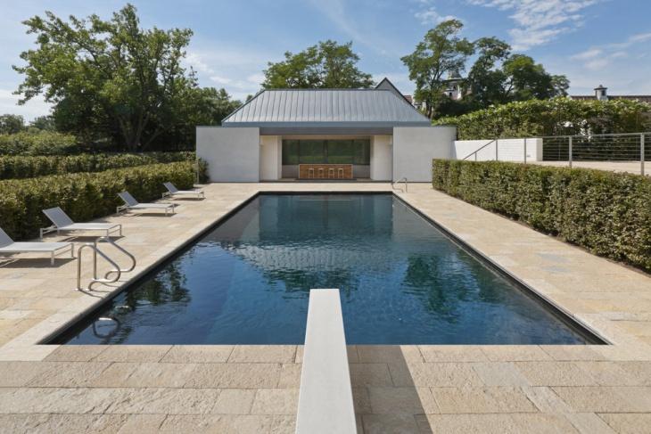 rectangle pool deck design