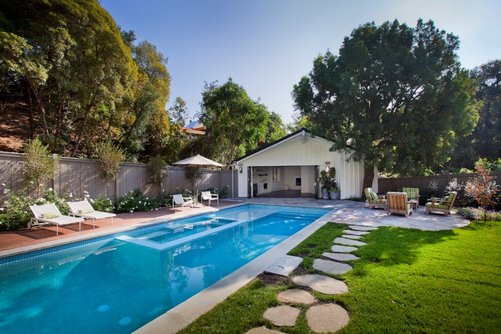 traditional outdoor pool design