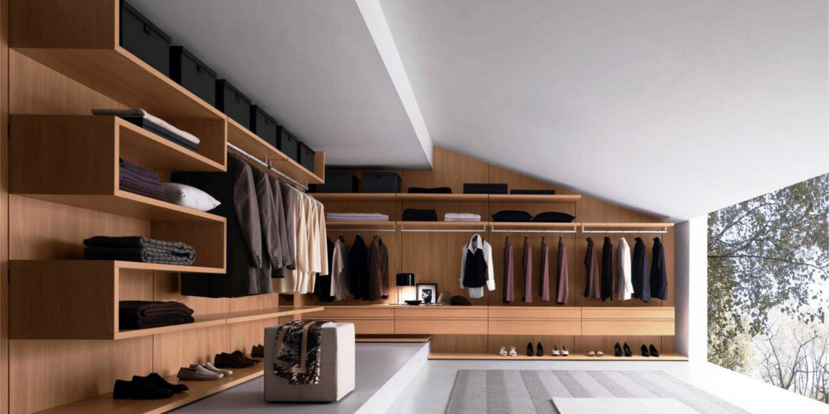 unique walk in closet