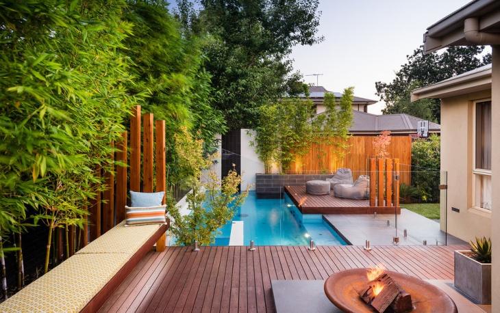 small contemporary pool design