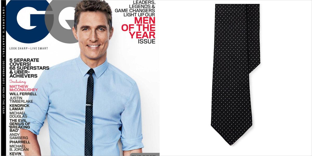 black pin dot tie