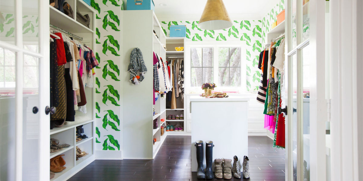 colorful and stylish closet