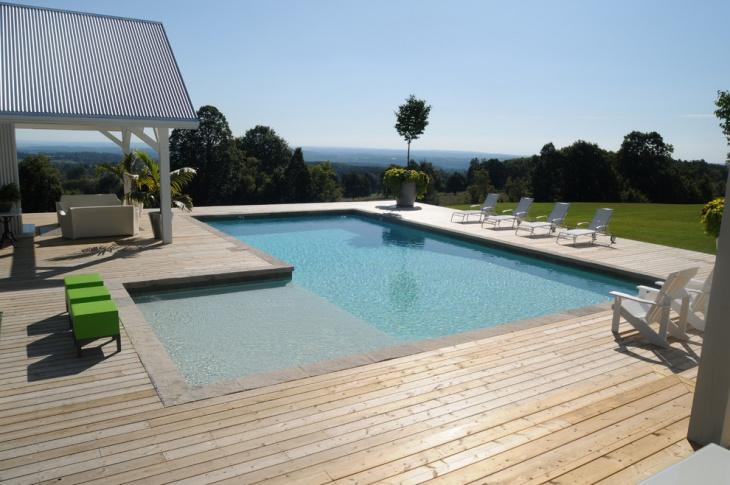 l shaped lap pool design