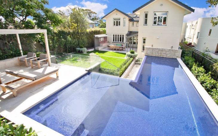 above ground l shaped pool design