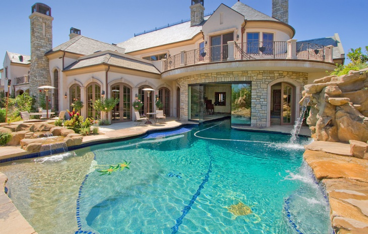 Luxury Swimming Pools With Waterfalls luxury pool house luxury swimming pool design. vanishing edge pool