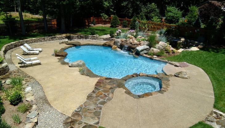 spa pool landscape design1