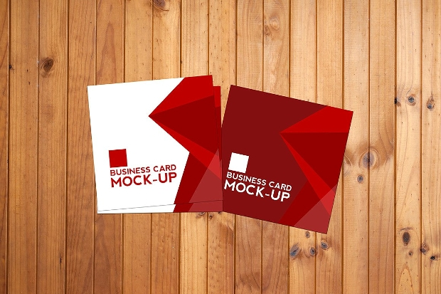 Square business card mockup ukranochi square business card mockup reheart Image collections