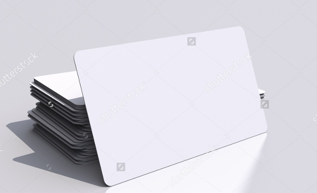 Blank Business Card Mockup