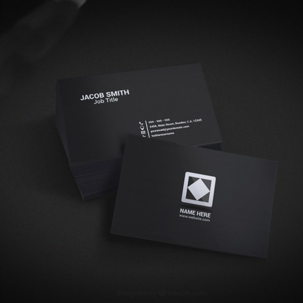 Black Business Card Mockup