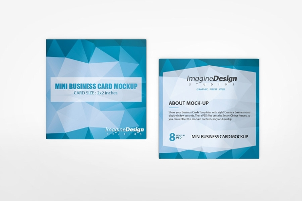 Mini Business Card Mockup
