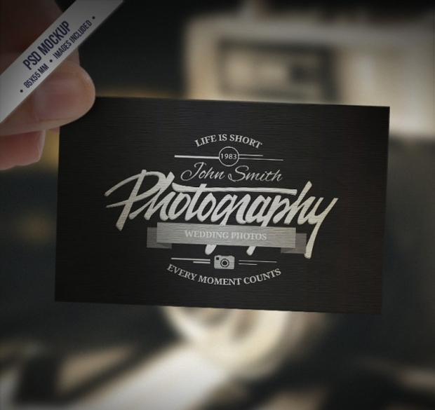Retro Business Card Mockup