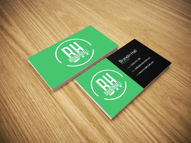 Green Business Card Mockup