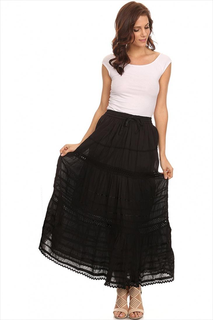 ethnic long skirt design