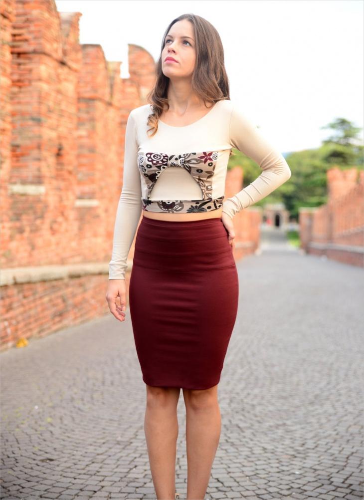 high waist pencil skirt design