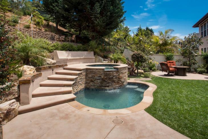 small geometric pool design