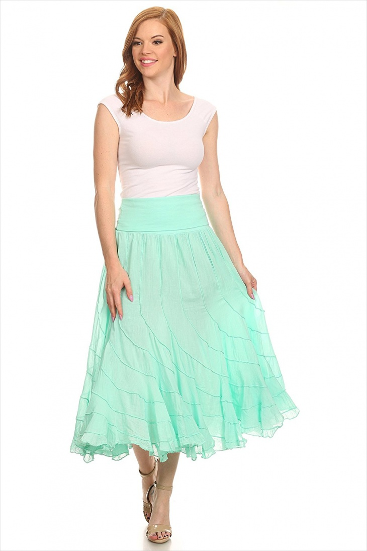 traditional flare skirt