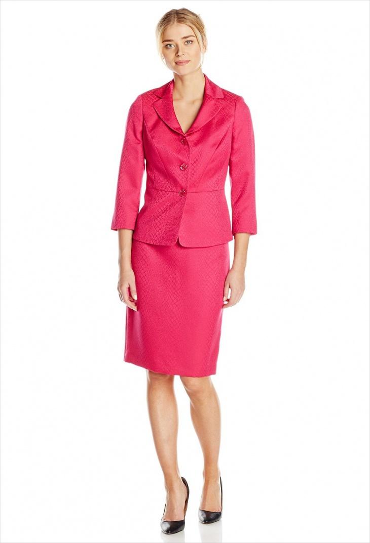 pink skirt suit design