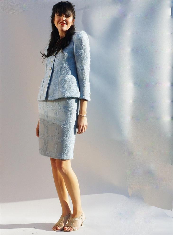 tweed skirt suit