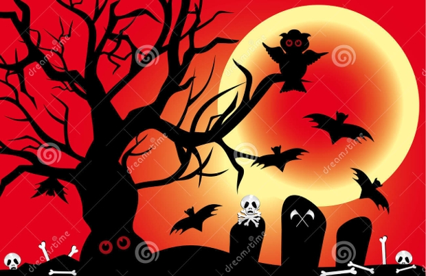 halloween spooky illustration