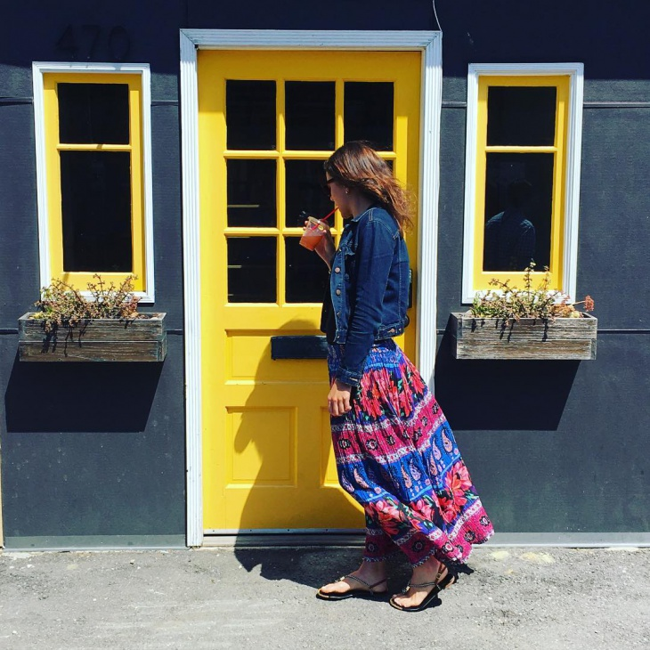 maxi floral skirt design