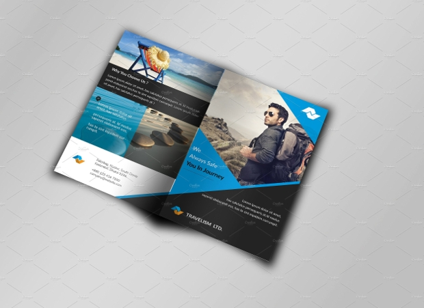 Bi Fold Travel Brochure