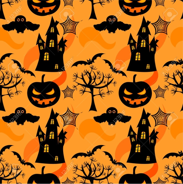black halloween texture design