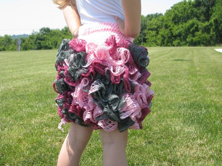 crochet ruffle skirt design