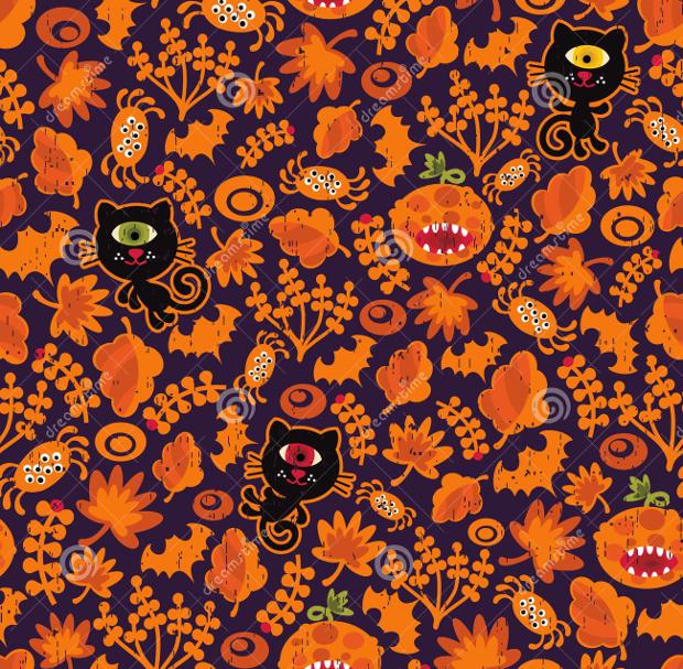 seamless halloween texture