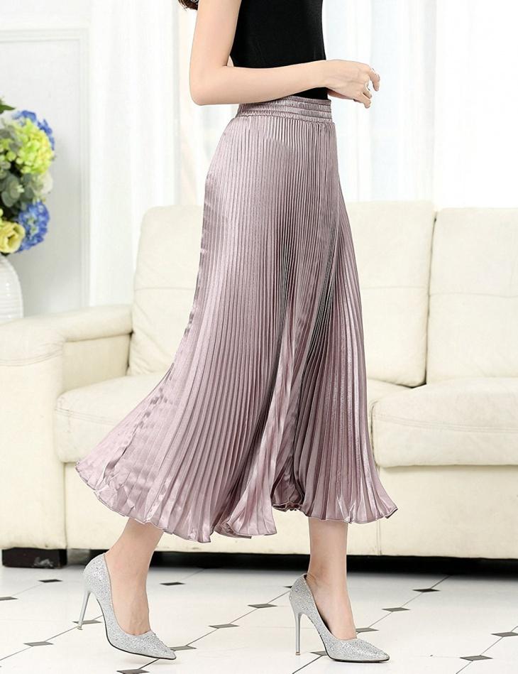 silk maxi skirt design