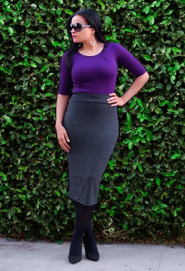 office wear midi skirt