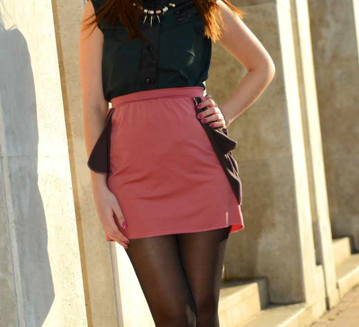 office wear mini skirt design