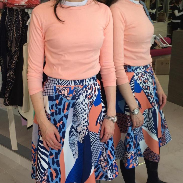 funky pattern skirt