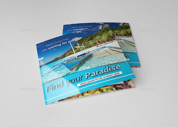 Square Travel Brochure Design
