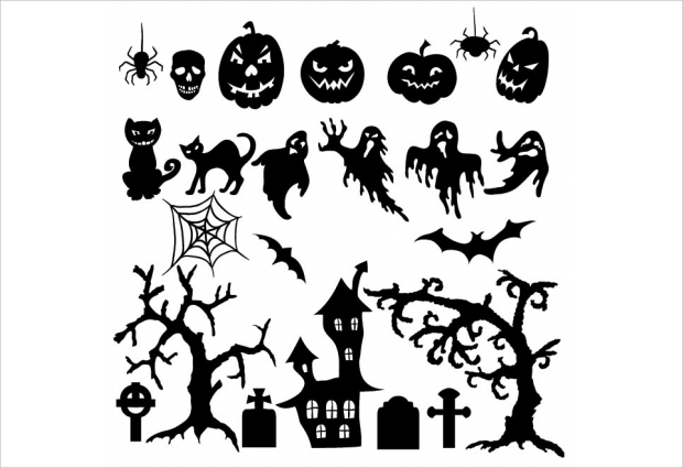 halloween silhouette element design