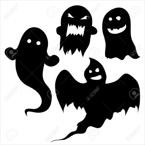 halloween spooky silhouette