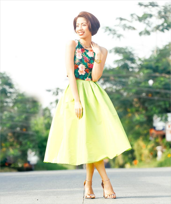 neon bubble skirt