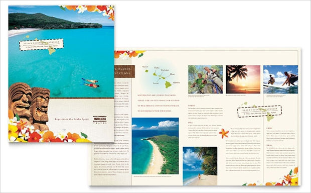 Travel Vacation Brochure Template