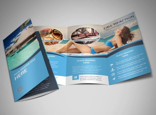 Ship Travel Tri Fold Brochure