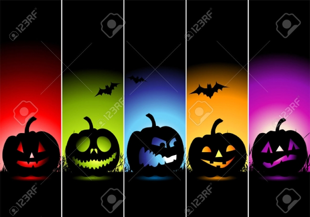colorful halloween banner design