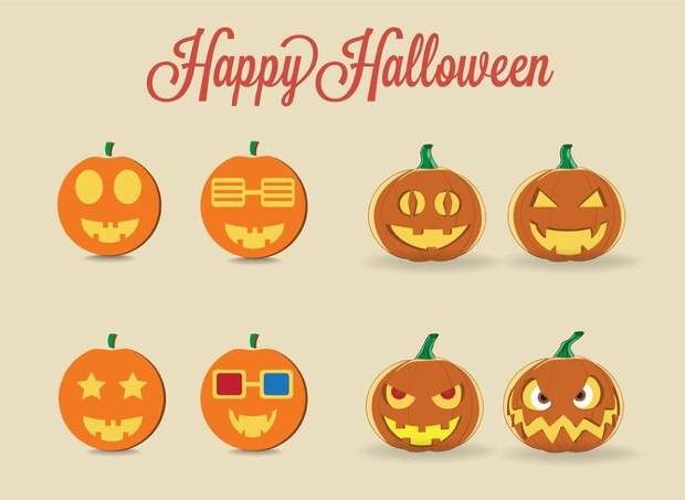 halloween pumpkin vectors