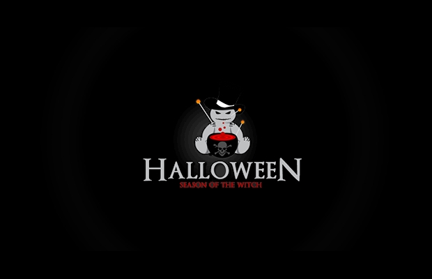 black halloween logo design