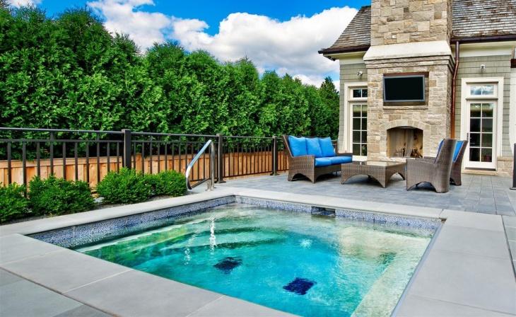 small square pool design