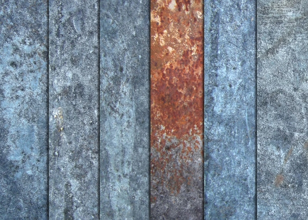weathered silver metal texture