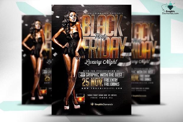 Black Friday Party PSD Flyer