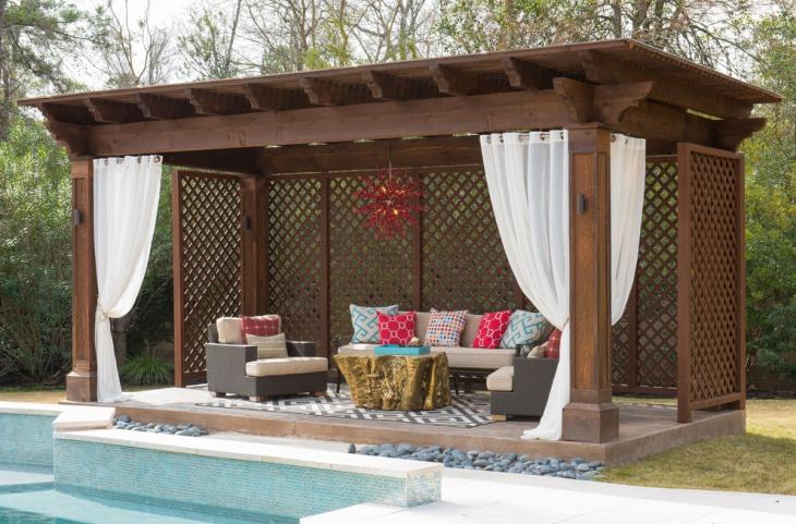 covered backyard patio design