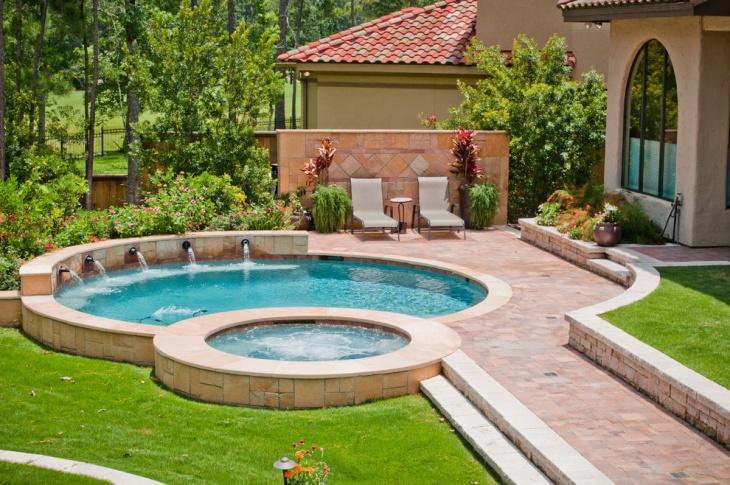 49 backyard designs ideas design trends premium psd for Small lap pool designs