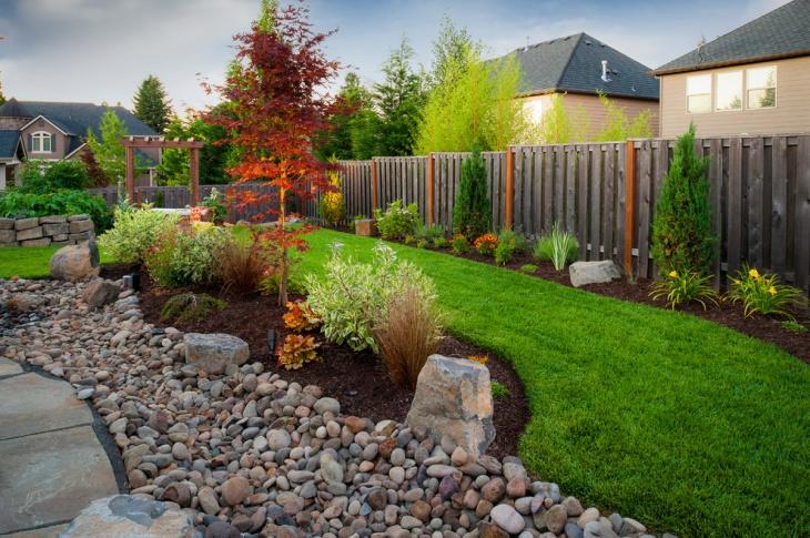 backyard rock garden design