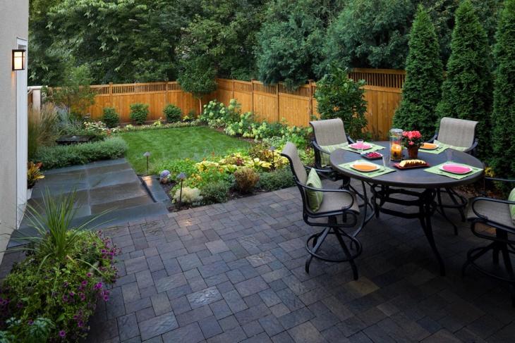 small square backyard design