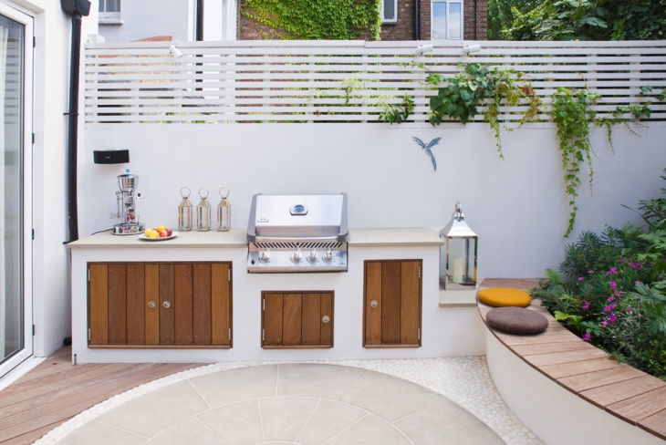 small backyard kitchen design