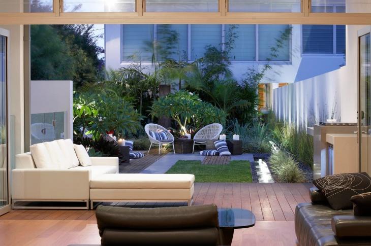 modern urban backyard design